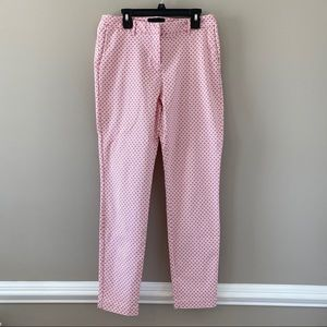 Cynthia Rowley Pink and White Ankle Dress Pants